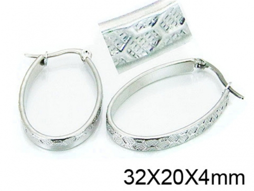 HY Stainless Steel 316L Snap Post Hoop Earrings-HY64E0377KD