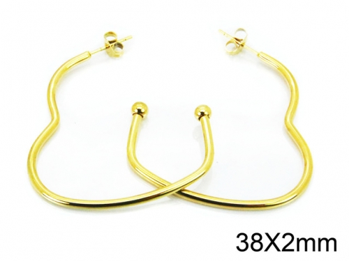 HY Wholesale Stainless Steel 316L Cheap Earrings-HY08E0100JG