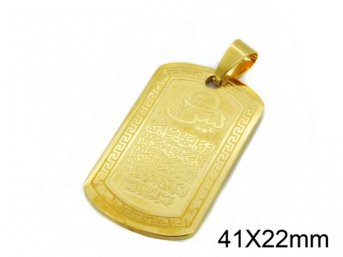 HY Wholesale Stainless Steel 316L Religion Pendant-HY09P1022KD