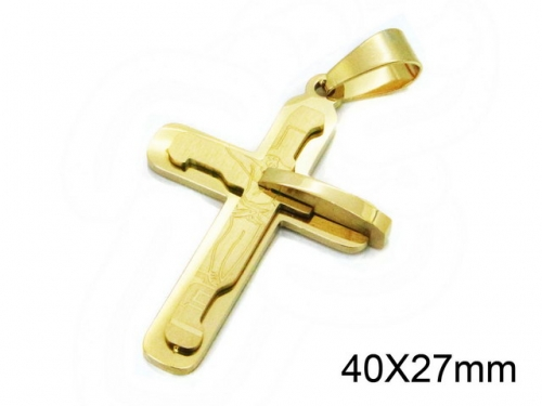 HY Wholesale Stainless Steel 316L Cross Pendant-HY09P1006HGG