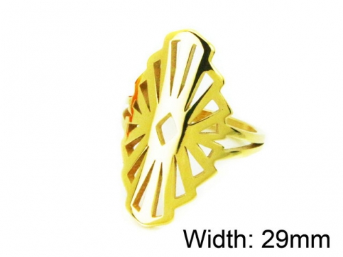 HY Wholesale Stainless Steel 316L Woman Rings-HY16R0426ND