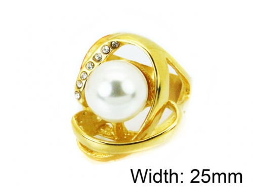 HY Wholesale Stainless Steel 316L Woman Rings-HY15R1388HJL