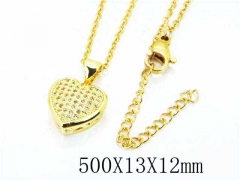 HY Wholesale Popular Crystal Zircon Necklaces-HY54N0246OW