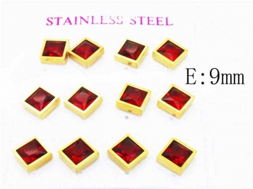 HY Stainless Steel 316L Small Crystal Stud-HY59E0559IHE