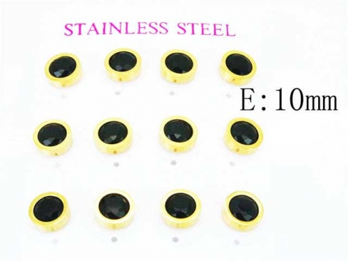 HY Stainless Steel 316L Small Crystal Stud-HY59E0540IHF