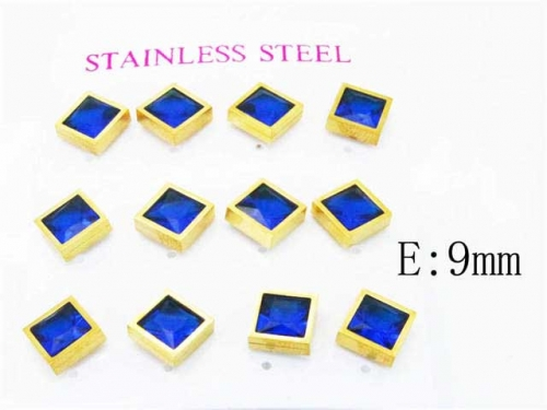 HY Stainless Steel 316L Small Crystal Stud-HY59E0562IHV
