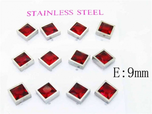 HY Stainless Steel 316L Small Crystal Stud-HY59E0558HOR