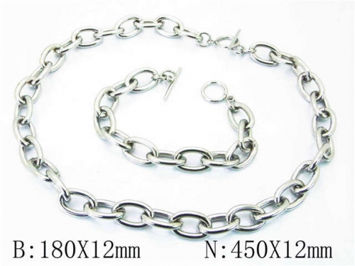 HY Stainless Steel 316L Necklaces Bracelets (Steel Color)-HY40S0292IHT