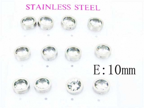 HY Stainless Steel 316L Small Crystal Stud-HY59E0536HOS