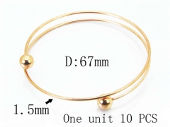 HY Stainless Steel 316L Bangle (Steel Wire)-HY70B0574LG