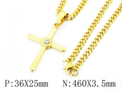 HY Wholesale Stainless Steel 316L Necklaces (Religion Style)-HY40N0974HIR