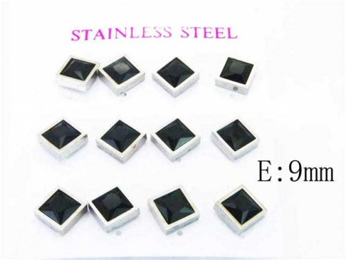 HY Stainless Steel 316L Small Crystal Stud-HY59E0555HOU