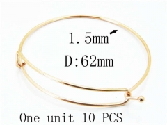 HY Stainless Steel 316L Bangle (Steel Wire)-HY70B0580KX