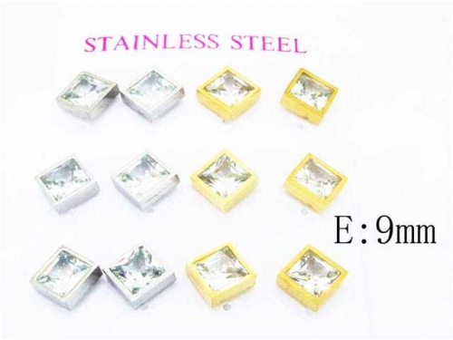 HY Stainless Steel 316L Small Crystal Stud-HY59E0554HPL