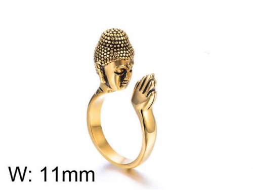HY Jewelry Wholesale Stainless Steel 316L Religion Rings-HY0025R010