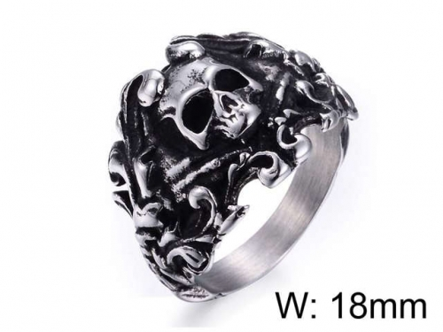 HY Jewelry Wholesale Stainless Steel 316L Skull Rings-HY0025R024