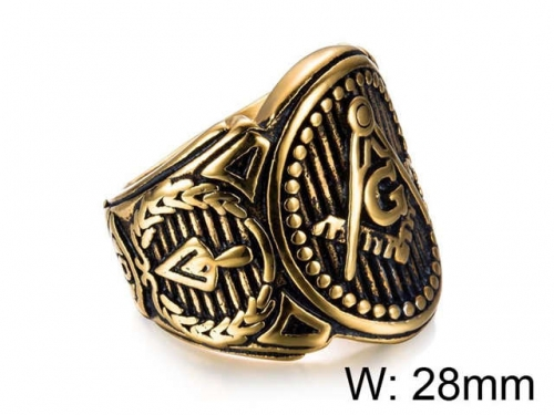 HY Jewelry Wholesale Stainless Steel 316L Religion Rings-HY0025R017