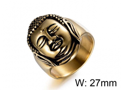 HY Jewelry Wholesale Stainless Steel 316L Religion Rings-HY0025R008