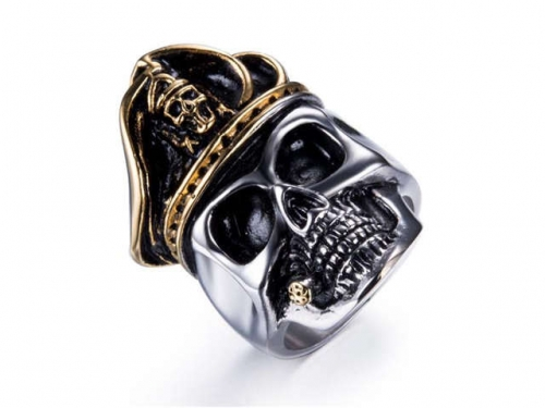 HY Jewelry Wholesale Stainless Steel 316L Skull Rings-HY0025R029