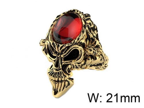HY Jewelry Wholesale Stainless Steel 316L Skull Rings-HY0025R047