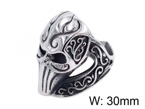 HY Jewelry Wholesale Stainless Steel 316L Skull Rings-HY0025R046