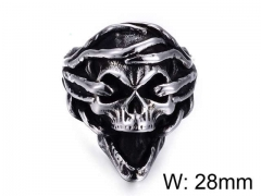 HY Jewelry Wholesale Stainless Steel 316L Skull Rings-HY0025R007