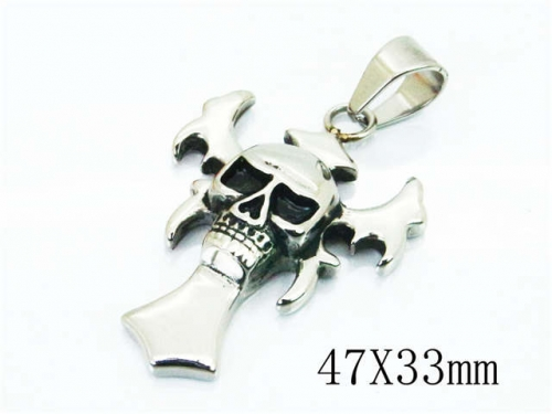 HY Wholesale Stainless Steel 316L Pendants (Skull Style)-HY22P0766HIE