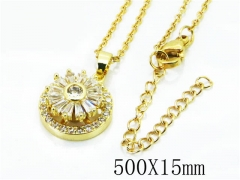 HY Stainless Steel 316L Necklaces(Crystal)-HY54N0331HWW