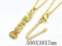 HY Stainless Steel 316L Necklaces(Crystal)-HY54N0313OE