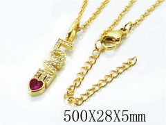 HY Stainless Steel 316L Necklaces(Crystal)-HY54N0307NZ