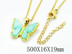 HY Stainless Steel 316L Necklaces(Crystal)-HY54N0325M5