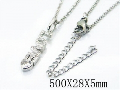 HY Stainless Steel 316L Necklaces(Crystal)-HY54N0306ML