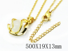 HY Stainless Steel 316L Necklaces(Crystal)-HY54N0319NL
