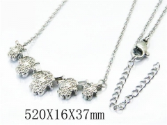 HY Stainless Steel 316L Necklaces(Crystal)-HY54N0318OW