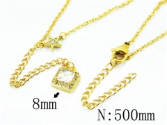 HY Stainless Steel 316L Necklaces(Crystal)-HY54N0336OW