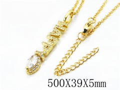 HY Stainless Steel 316L Necklaces(Crystal)-HY54N0315N5