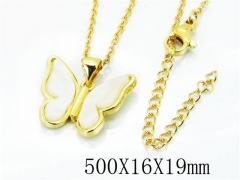 HY Stainless Steel 316L Necklaces(Crystal)-HY54N0326M5