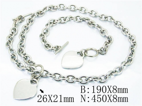 HY Stainless Steel 316L Necklaces Bracelets (Steel Color)-HY40S0298IJW