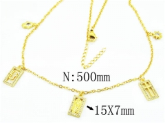 HY Wholesale Stainless Steel 316L Necklaces-HY54N0339HIR