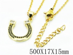HY Stainless Steel 316L Necklaces(Crystal)-HY54N0333NW