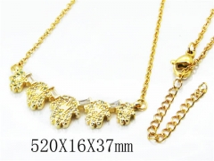 HY Stainless Steel 316L Necklaces(Crystal)-HY54N0317O5