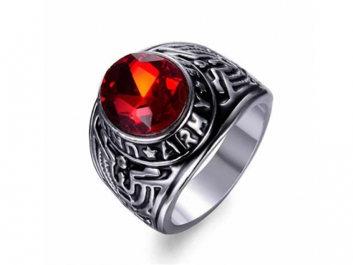 HY Jewelry Wholesale Stainless Steel 316L Big Zircon Crystal Stone Rings-HY0053R018