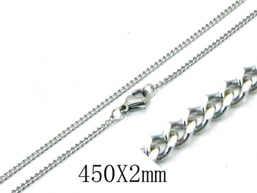 HY Wholesale 316L Stainless Steel Curb Chains-HY40N1040IE