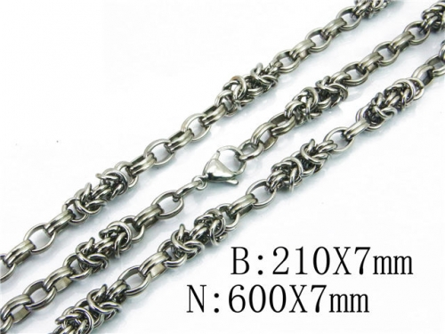 HY 316L Stainless Steel Necklaces Bracelets Sets-HY40S0312INC