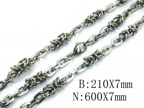 HY 316L Stainless Steel Necklaces Bracelets Sets-HY40S0313I7C