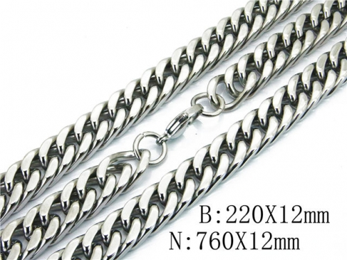 HY 316L Stainless Steel Necklaces Bracelets Sets-HY40S0318JOX