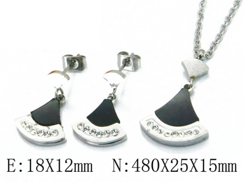 HY Wholesale 316 Stainless Steel jewelry Set-HY91S0588HPY