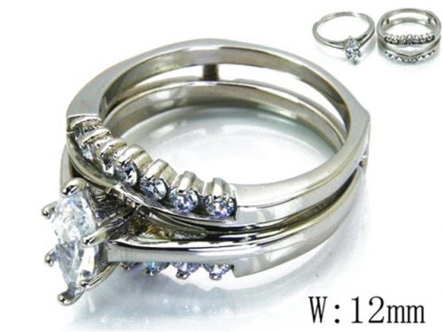 HY Wholesale 316L Stainless Steel Rings-HY46R0587HOX
