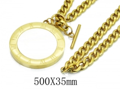 HY Wholesale 316L Stainless Steel Necklace-HY41N0011HJQ