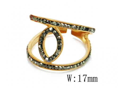 HY Wholesale 316L Stainless Steel Rings-HY19R0017HSS